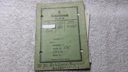 Schießbuch Mit 3 Zettelchen Persönliche Notiz GD Gewehr 1942 WK 2 - Documents