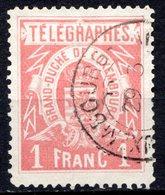 LUXEMBOURG - 1883 - Timbres Télégraphe - N° 4 - 1 F. Rose - Télégraphes