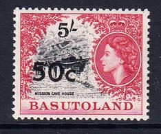 1961 Basutoland 50c Surcharge Definitive Type I  MNH - Basutoland (1933-1966)