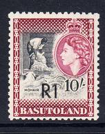 1961 Basutoland R1 Surcharge Definitive Type II MNH - Basutoland (1933-1966)