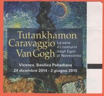 """Basilica Palladiana, Vicenza - Mostra """"Tutankhamon, Caravaggio, Van Gogh - La Sera E I Notturni Dagli Egizi Al Novecento - Tickets - Vouchers"""