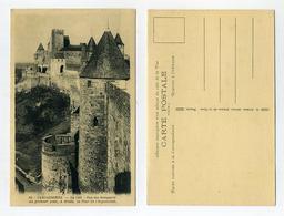 Lot De 2 Vieilles CP Carcassonne, Aude, France. La Cité Médiévale. Voir 2 Images. Editions G. Artaud, Nantes - Publicité