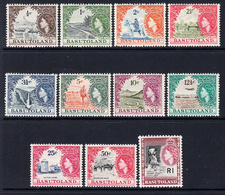 1961 - 1963  Basutoland Definitives Complete Set Of 11 MNH - 1933-1964 Crown Colony