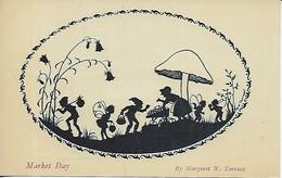"""Margaret W. Tarrant  -  """"Silhouette Of Fairy Folk"""" : The Elfin Series - Market Day - Non Classificati"""