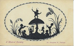 "Margaret W. Tarrant  -  ""Silhouette Of Fairy Folk"" : The Elfin Series - A Musical Evening - Enfants"