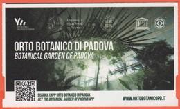 Padova - Orto Botanico Università Di Padova - Biglietto D'ingresso Cumulativo Over 65 - Usato - Biglietti D'ingresso