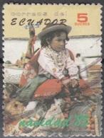 Ecuador 1985 Michel 2012 O Cote (2005) 0.10 Euro Noël Enfant Cachet Rond - Ecuador