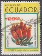 Ecuador 1986 Michel 2017 O Cote (2005) 0.50 Euro Fleur Cachet Rond - Equateur