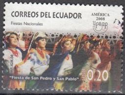 Ecuador 2008 Upaep Fêtes Nationaux O Cachet Rond - Equateur
