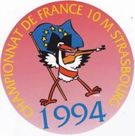 Autocollant Publicitaire - Tir Sportif - Armes - FFTir - Championnat De France De Tir à 10 Mètres   STRASBOURG  1994 - Stickers