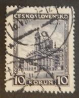 """TCHÉCOSLOVAQUIE YT 266 OBLITÉRÉ """"EGLISE SAINT NICOLAS"""" ANNÉES 1929/1931 - Used Stamps"""