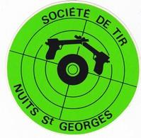 Autocollant Publicitaire - Tir Sportif - Club De Tir - NUITS SAINT GEORGES 21 - Autocollants