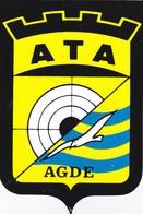 Autocollant Publicitaire - Tir Sportif - Club De Tir - ATA  AGDE 34 - Autocollants