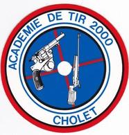 Autocollant Publicitaire - Tir Sportif - Club De Tir - Académie De Tir 2000  CHOLET 49 - Autocollants