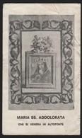 616 Santino Antico Maria SS Addolorata Da Altofonte - Palermo - Religione & Esoterismo
