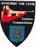 Autocollant Publicitaire - Tir Sportif - Club De Tir -  AUXERRE Tir Club Loisirs Compétitions  89 - Autocollants