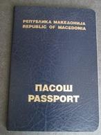 PASSPORT REISEPASS PASSAPORTO PASSEPORT MACEDONIA 1994, - Historische Dokumente
