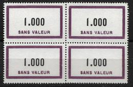 France Timbre Fictif ** N°F139 Bloc De 4 Cote 40€ - Phantomausgaben