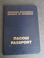 PASSPORT REISEPASS PASSAPORTO PASSEPORT MACEDONIA 1994, - Documenti Storici