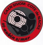 Autocollant Publicitaire - Tir Sportif - Club De Tir -  SAINT AUBIN SUR MER - Caen Sivom - COTE DE NACRE - Autocollants