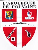 Autocollant Publicitaire - Tir Sportif - Club De Tir -  L'ARQUEBUSE DE DOUVAINE  74 - Autocollants