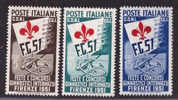 Repubblica, Serie Ginnici Del 1951 Nuova **              -CO69 - 1946-60: Neufs