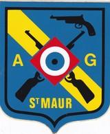 Autocollant Publicitaire - Tir Sportif - Club De Tir -  A.G.  SAINT MAUR 94 - Autocollants