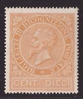 Regno, 10 Centesimi Ricognizione Postale Del 1874 Nuovo **              -CO67 - 1861-78 Victor Emmanuel II.