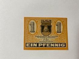 Allemagne Notgeld Zeulenroda 1 Pfennig - [ 3] 1918-1933 : République De Weimar