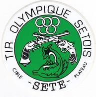 Autocollant Publicitaire - Tir Sportif - Club De Tir -  Tir Olympique Sétois - SETE  34 - Autocollants