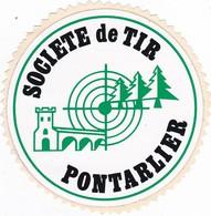 Autocollant Publicitaire - Tir Sportif - Club De Tir -  Société De Tir  PONTARLIER  25 - Autocollants