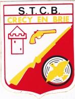 Autocollant Publicitaire - Tir Sportif - Club De Tir -  S.T.C.B.   CRECY EN BRIE  77 - Autocollants