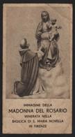 624 Santino Antico Madonna Del Rosario Da Santa Maria Novella - Firenze - Religione & Esoterismo
