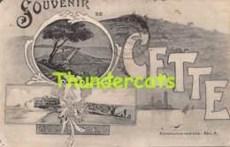 CPA 34 SOUVENIR DE CETTE - Sete (Cette)