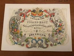 CARTE PORCELAINE   À La Ville De PARIS          BRUXELLES - Publicités
