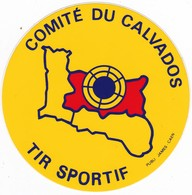 Autocollant Publicitaire - Tir Sportif - Club De Tir - Comité Du CALVADOS - Autocollants