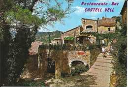 Espagne. CPM. Catalogne. Costa Brava. Tossa De Mar. Restaurant-bar Castell Vell. Dans Le Château Face Au Musée (animée) - Espagne