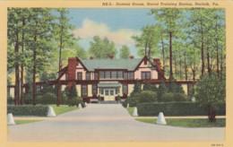 Virginia Norfolk U S Naval Training Station Hostess House Curteich - Norfolk