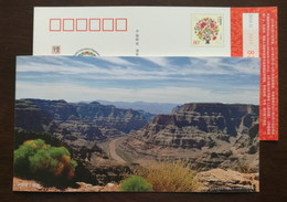 Colorado Grand Canyon,China 2011 GecoI Earth Conservation Organization World Famous Scenery Advertising Pre-stamped Card - Other