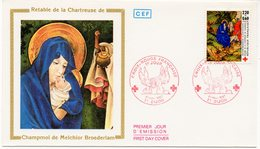 FDC France 1987 - Croix Rouge 1987 : La Fuite En Egypte Melchior Broederlam YT 2498 - 21 Dijon - FDC