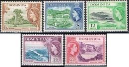 COLONIE ANGLAISE-DOMINIQUE-DOMINICA YT 138 / 142 * - Dominica (...-1978)