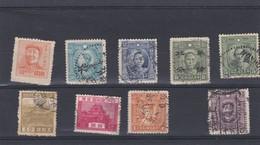CINA - LOTTO DI 9 FRANCOBOLLI - USATI - 1949 - ... Volksrepubliek