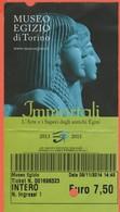 Torino - MUSEO EGIZIO - Immortali - Biglietto D'Ingresso Intero - Tickets - Vouchers