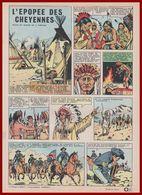 En 1879, Après Une Longue Lutte D'extermination, Un Des Combats Des Indiens Cheyennes. Bande Dessinée De 1965. - Documents Historiques