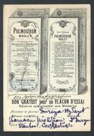 +++ CPA - Carte Publicitaire - Publicité Laboratoire Bailly - Bon Gratuit - Paris - PULMOSERUM Maladies Grippe  // - Publicité