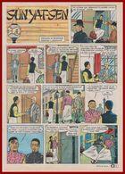 En 1896. Le Futur Président Chinois Sun Yat-Sen Est Séquestré à L'embrassade De Londres ... Bande Dessinée De 1965. - Documents Historiques