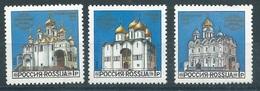 RN054  RUSSIA 1992 - CHIESE E MONASTERI  3 V. - 1992-.... Federazione