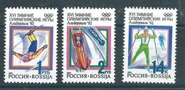 RN055  RUSSIA 1992 - Olimpiadi Di Albertville  3 V. - 1992-.... Federazione