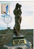 TAAF Maximum Postcard 1988 Notre Dame Des Vents KERGUELEN - Tierras Australes Y Antárticas Francesas (TAAF)