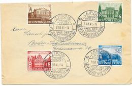 DR Brief Mit MI.764-767 + SST. Leipzig 31.8.41 Presse Postamt Haus Der Nationen Reichsmessestadt - Lettres & Documents